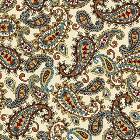 Isabella Packed Paisley 27975-E Cream
