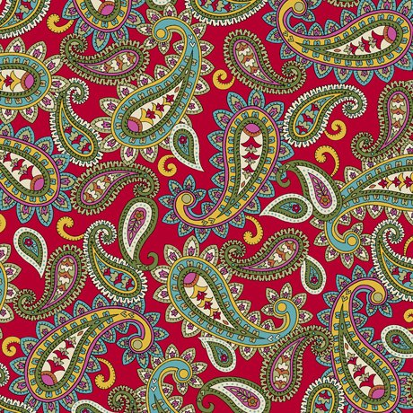 Isabella Packed Paisley 27975-R Red