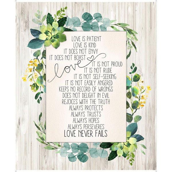Love Never Fails 27980-K Panel