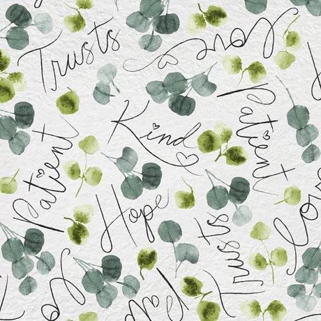 Love Never Fails 27982-K Words & Eucalyptus