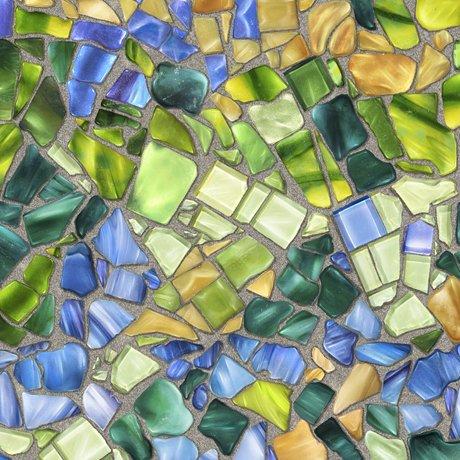 Glass Menagerie 28035-BG Mosaic Blue/Green