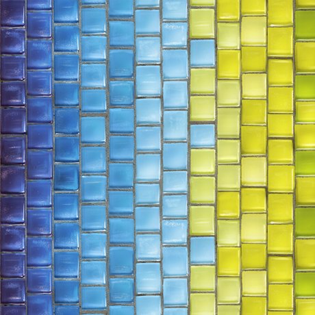 Glass Menagerie 28036-BG Tile Stripe Blue/Green