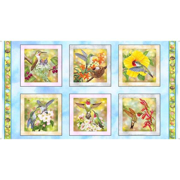 Hummingbird Garden 28152-B Patches Panel