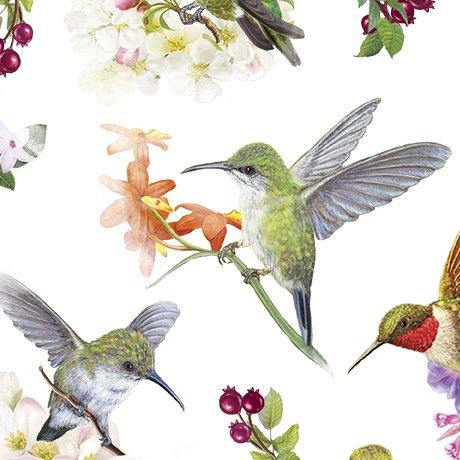 Hummingbird Garden 28153-Z Birds White
