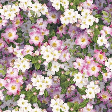 Hummingbird Garden 28157-P Packed Floral Pink