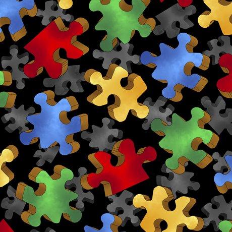 This & That Puzzle Pieces Black 28295-J