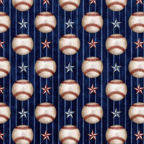 America's Pastime 28354-N Baseball Stripe Navy