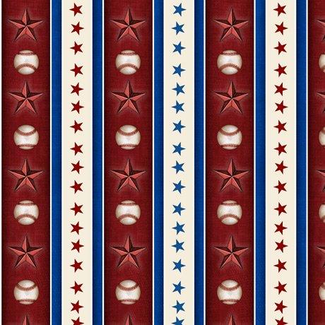 America's Pastime 28356-M Star Stripe Wine