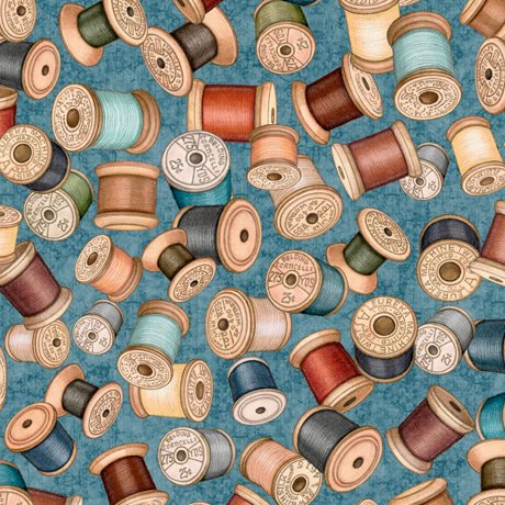 Sew Lovely 28378-B Spools Blue