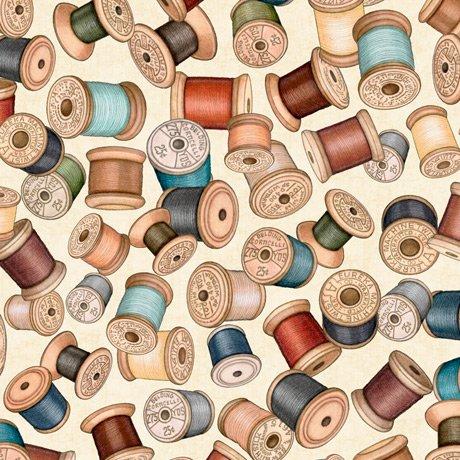 Sew Lovely 28378-E Spools Cream