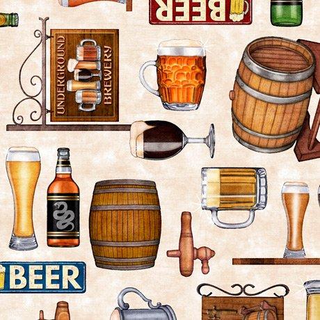 Beer On Tap 28419-E Motifs Cream