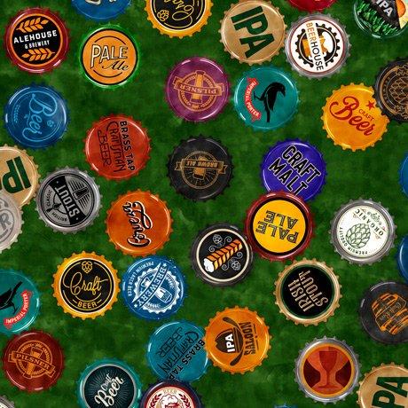 Beer On Tap 28422-F Bottle Caps Green