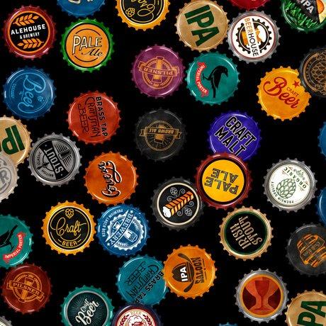 Beer On Tap 28422-J Bottle Caps Black