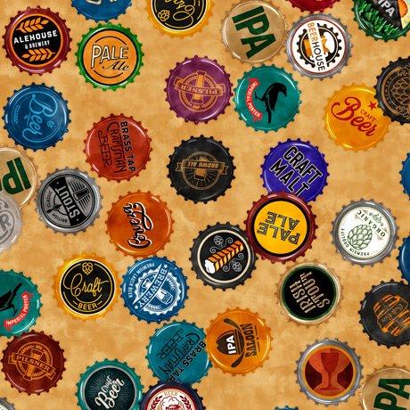 Beer On Tap 28422-S Bottle Caps Tan