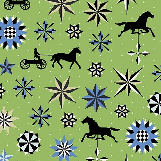 Folk Art Horse & Star 3135-44 Green