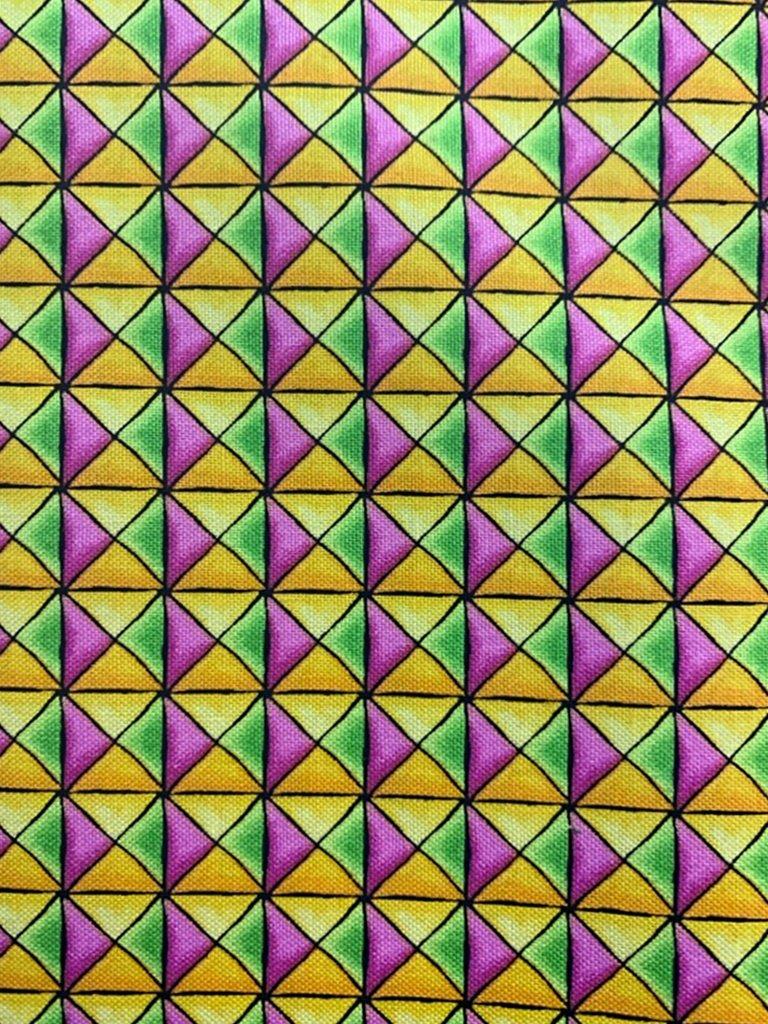 Prism Geo 3354 Orange, Lime & Pink