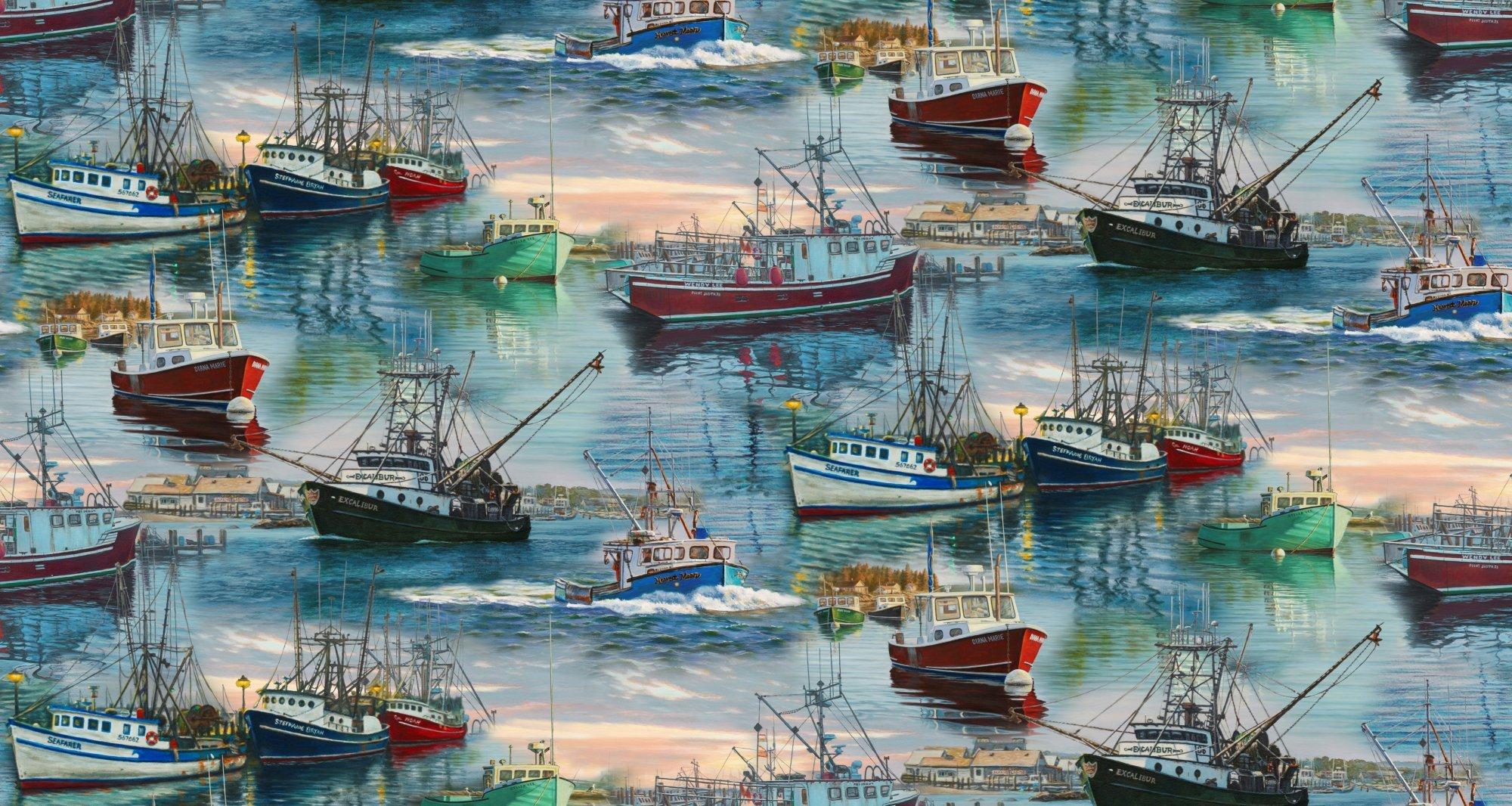 At the Harbor 3393 Fishing Boats