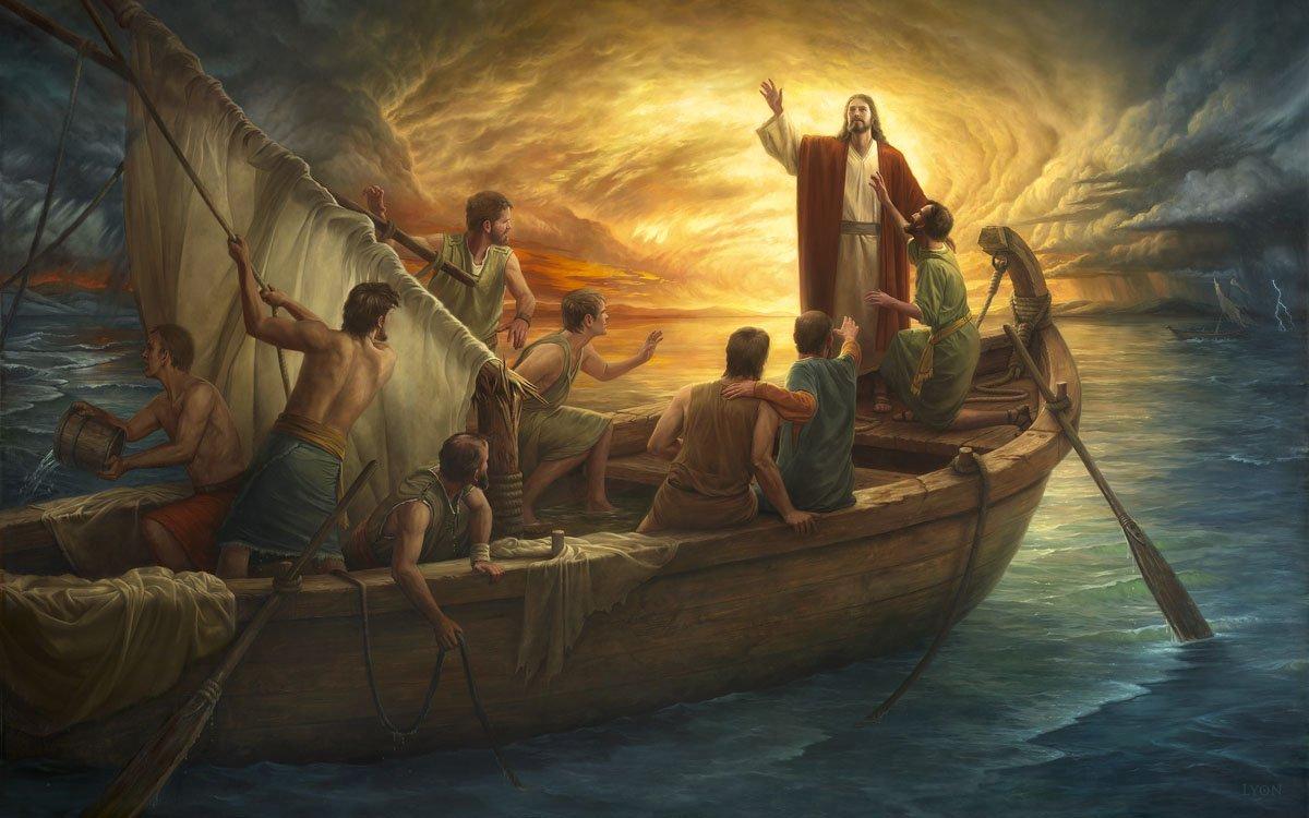 Jesus Calming the Storm 3760 Panel