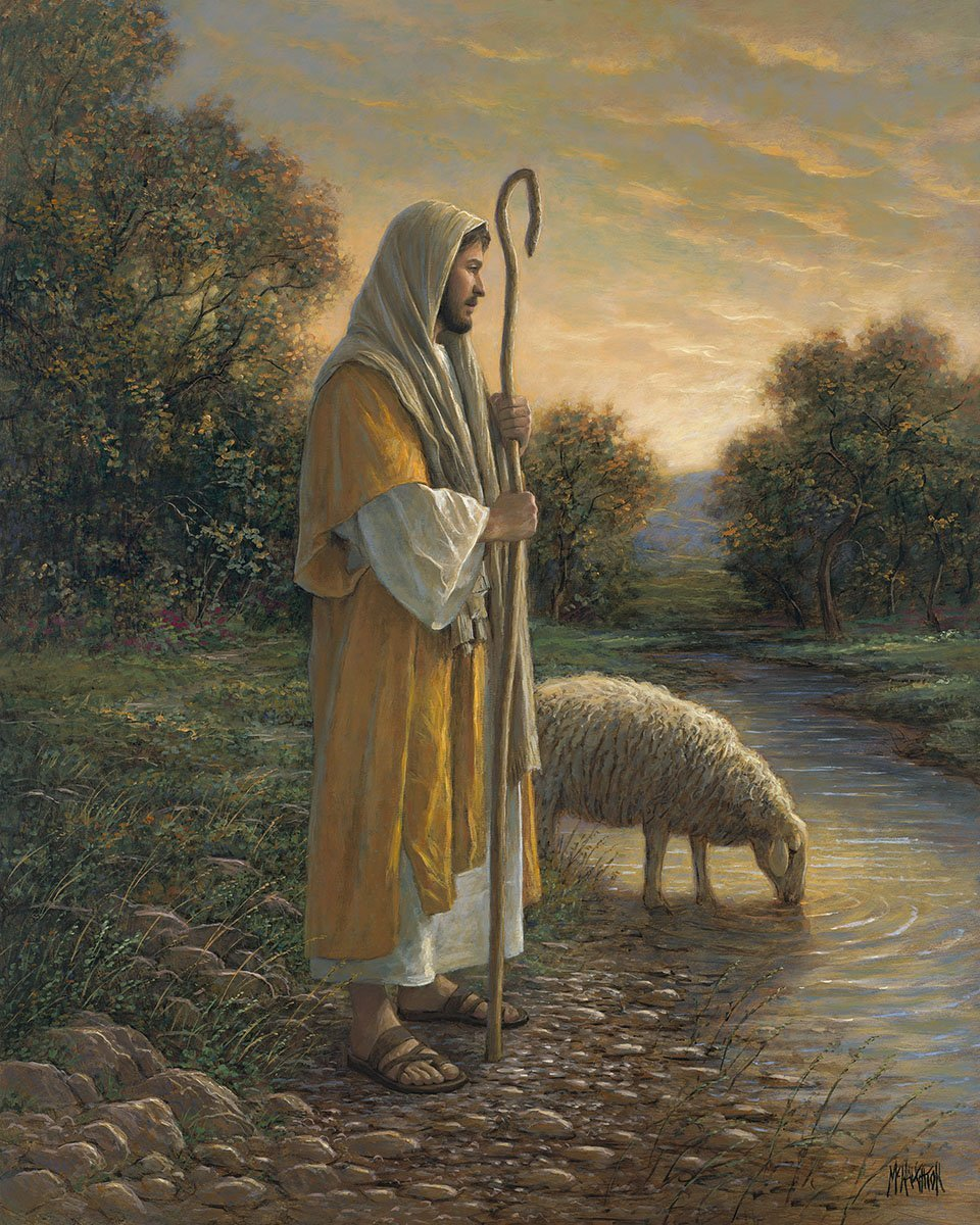 Good Shepherd, Jesus & Sheep 3762 Panel