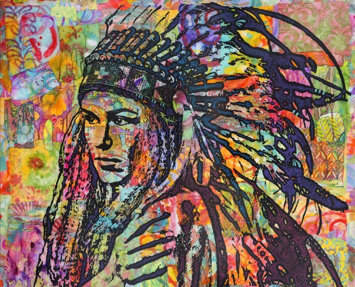 Tiva in Head Dress 3768 Panel