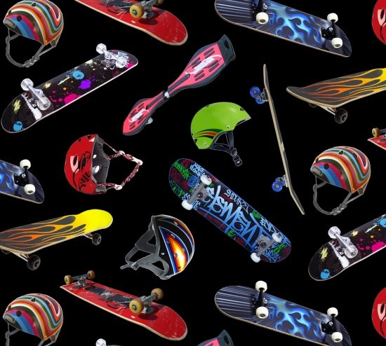 Skateboarding 419 Black