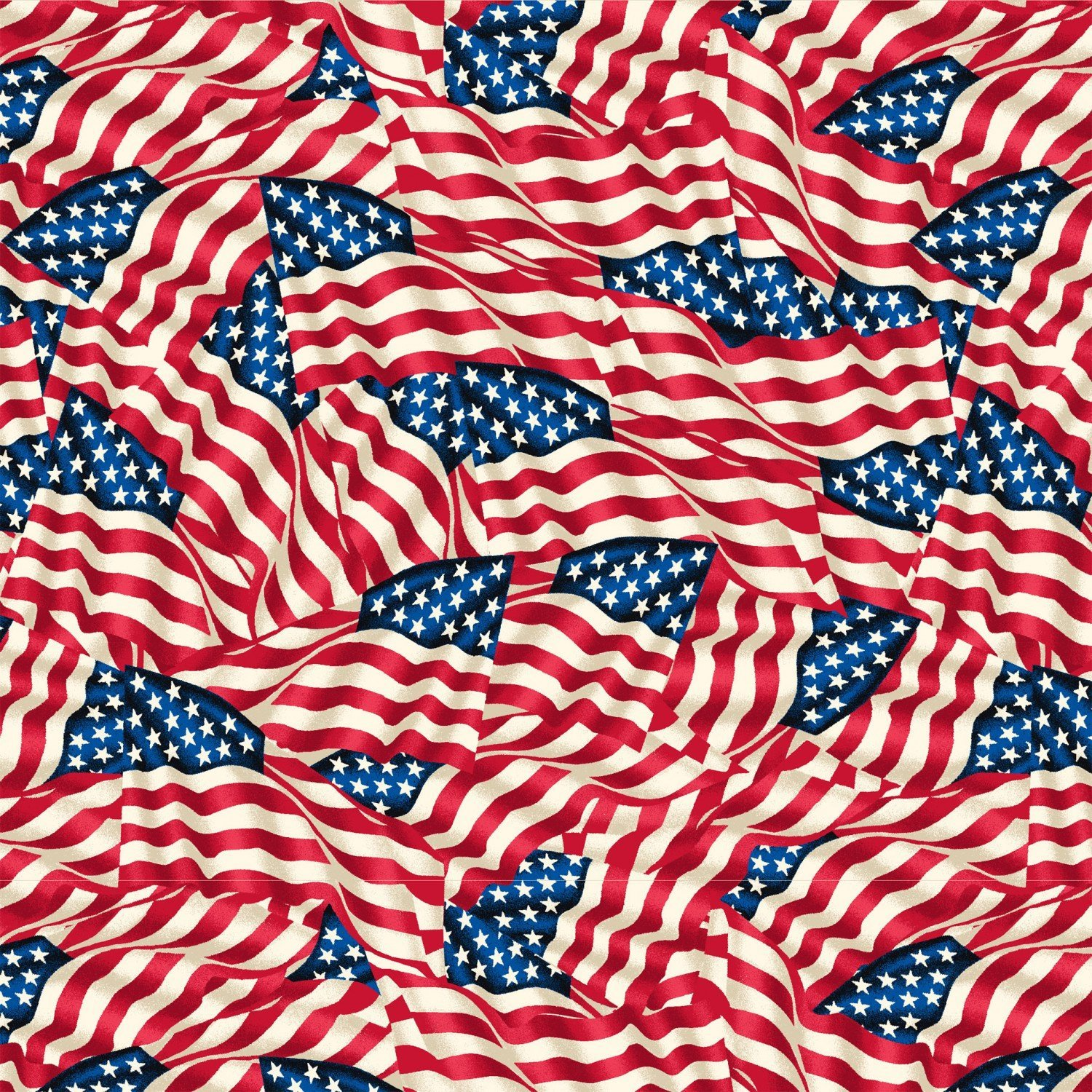 108 Quilt Back 42465-X Packed Flags