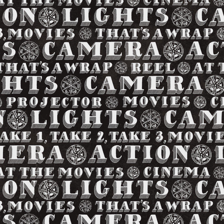 Lights Camera Action 42852-1 Words on Black