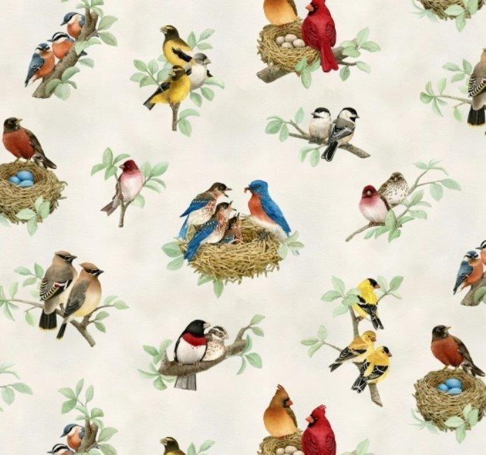 Beautiful Birds 4310 Cream