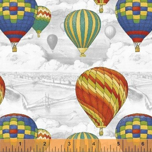 Adventure Awaits 43444-2 White Balloon Scenic
