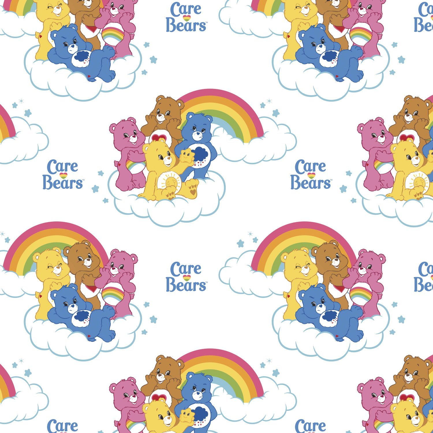 Care Bears 44010101-1 Rainbows on White