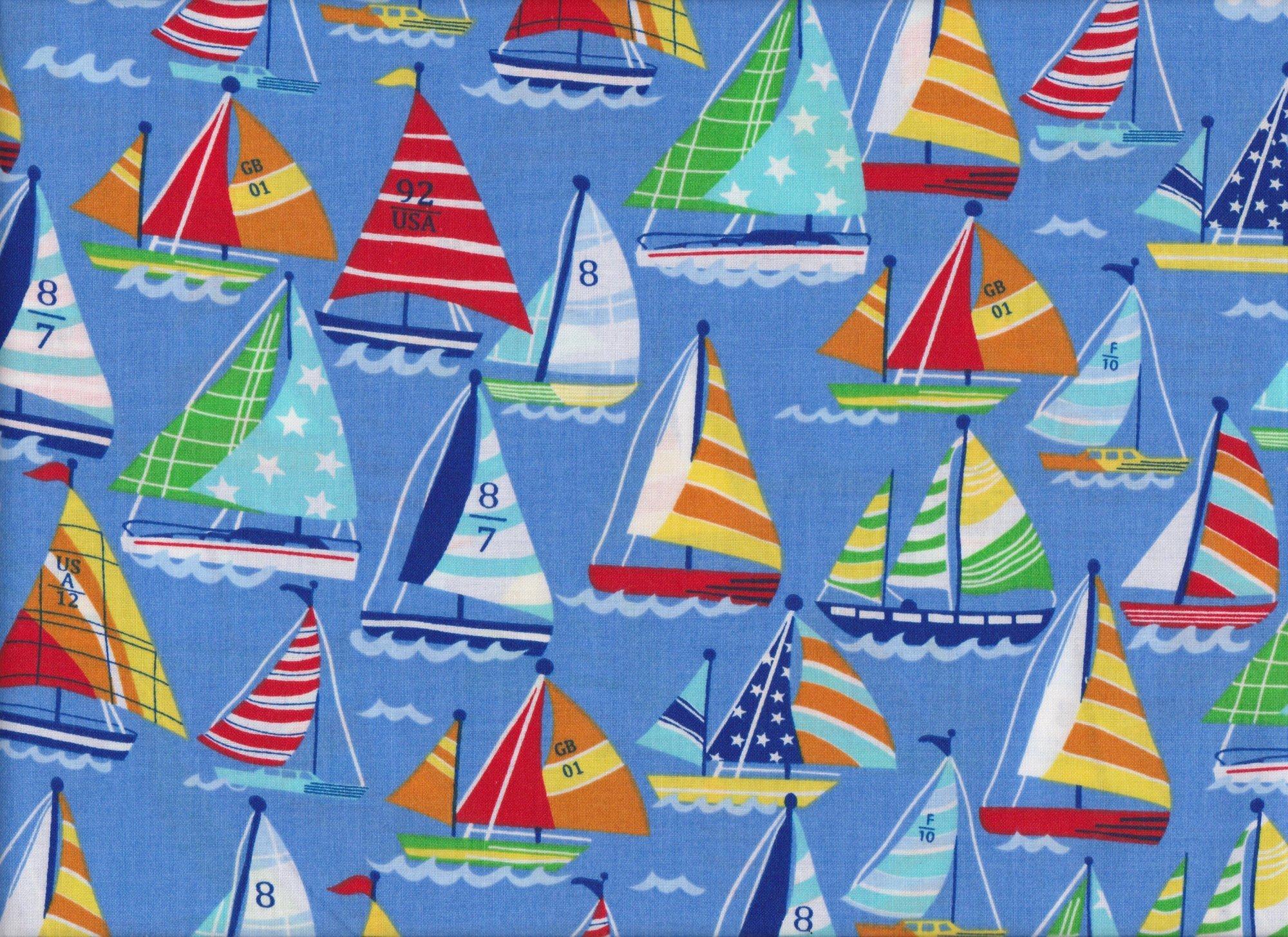 Sail Boats 49196 Blue