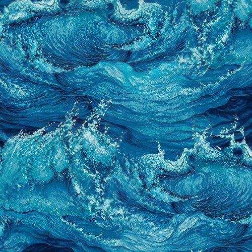 Crashing Waves 5008-77 Dark Blue