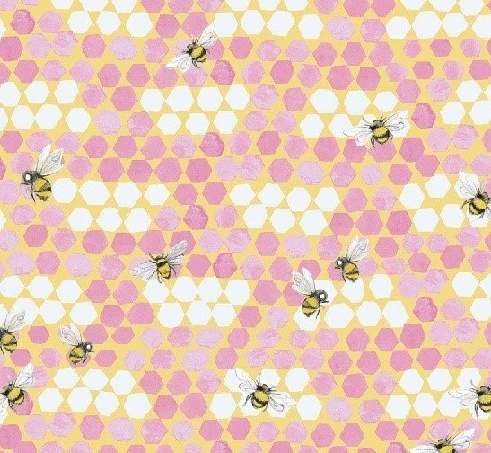 My Imagination 51163-4 Bees Pink