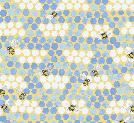 My Imagination 51163-6 Bees Blue