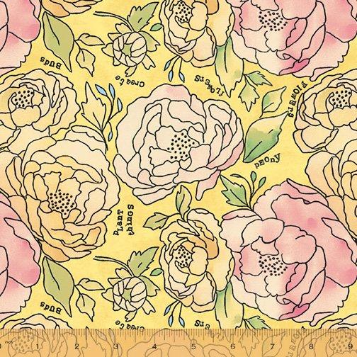 Potpourri 51654-2 Yellow Roses