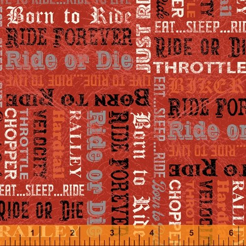 Born to Ride 52243-5 Red Biker Words