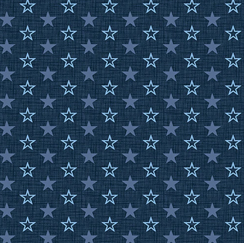 American Muscle 5342-77 Navy Stars