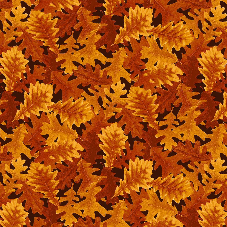 Harvest Whisper 5739-33 Packed Leaves Orange