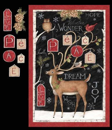 Peace Deer Panel 58635