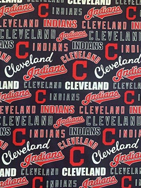 MLB Logo Cleveland Indians 60309 Red & White Logo 45