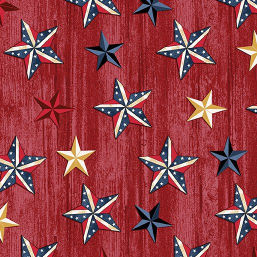 American Rustic 6333-10 Stars on Red Wood