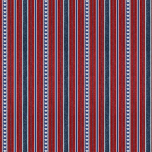 American Rustic 6335-10 Stripes Red