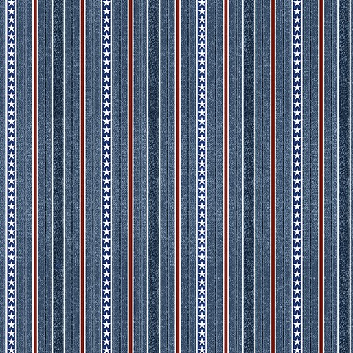 American Rustic 6335-55 Stripes Blue