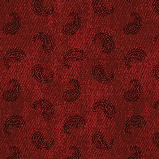 American Rustic 6339-10 Paisley Red