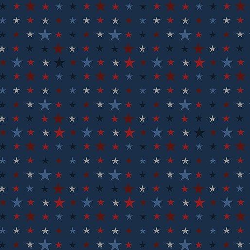 American Rustic 6340-55 Tiny Stars Blue