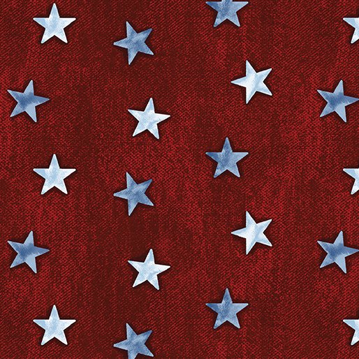 American Rustic 6341-10 Stars Red Denim