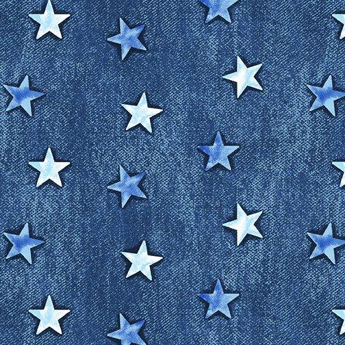 American Rustic 6341-55 Stars Blue Denim