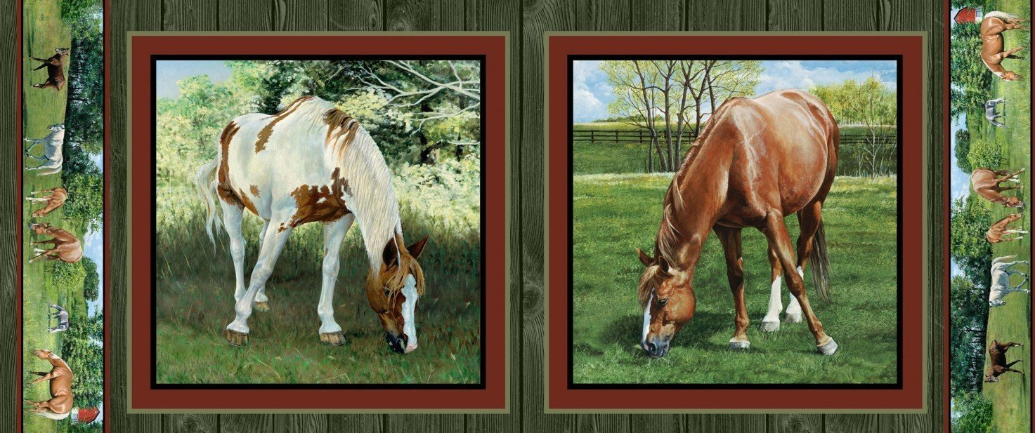 *EOB* Horses 64263 Partial Panel - 1/2 YD