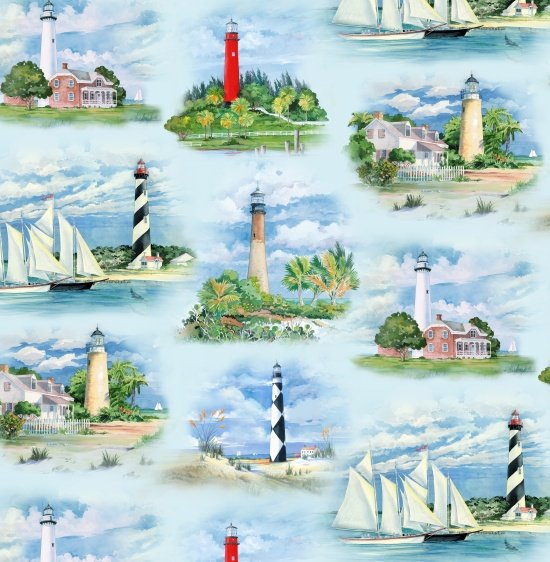 Lighthouses 6500 Blue