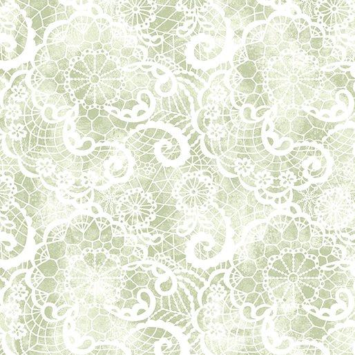*EOB* Festive Lace 6640P-42 Green - 0.83 YD